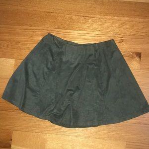 Dark green velvet circle skirt